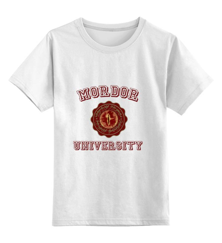 Детская футболка классическая унисекс Printio Mordor university толстовка wearcraft premium унисекс printio властелин колец the lord of the rings