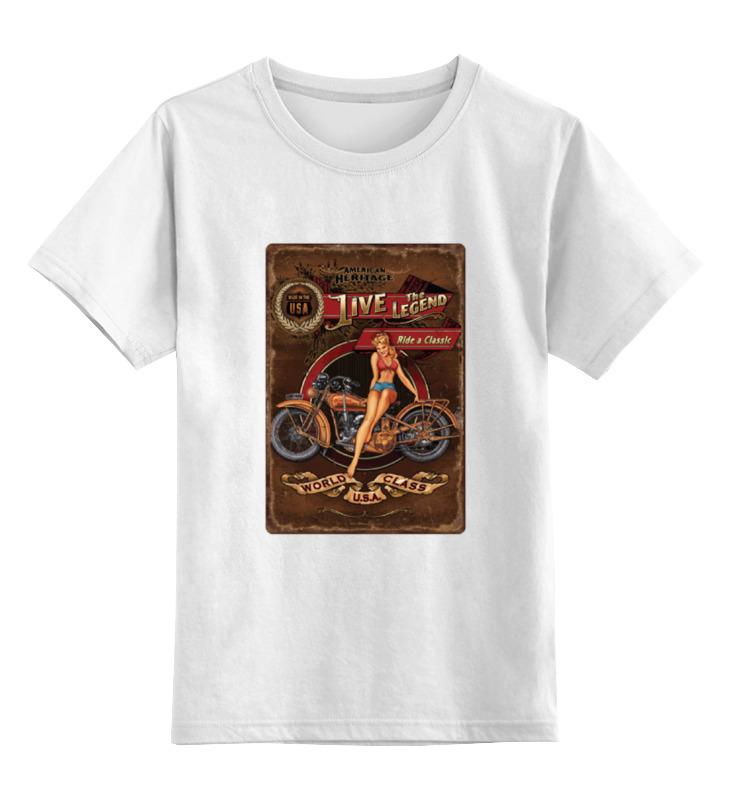 Детская футболка классическая унисекс Printio Мотоциклы, винтажный постер. винтажный декупаж ретромобиль