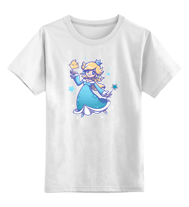 Детская футболка классическая унисекс Printio Розалина (марио) цена и фото
