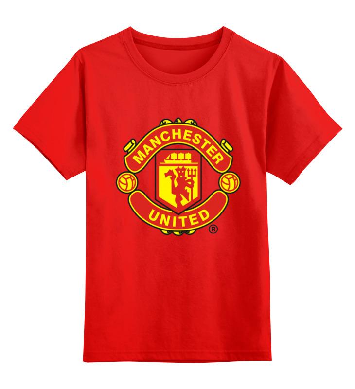 Детская футболка классическая унисекс Printio Manchester united 1878 hardy caprio manchester