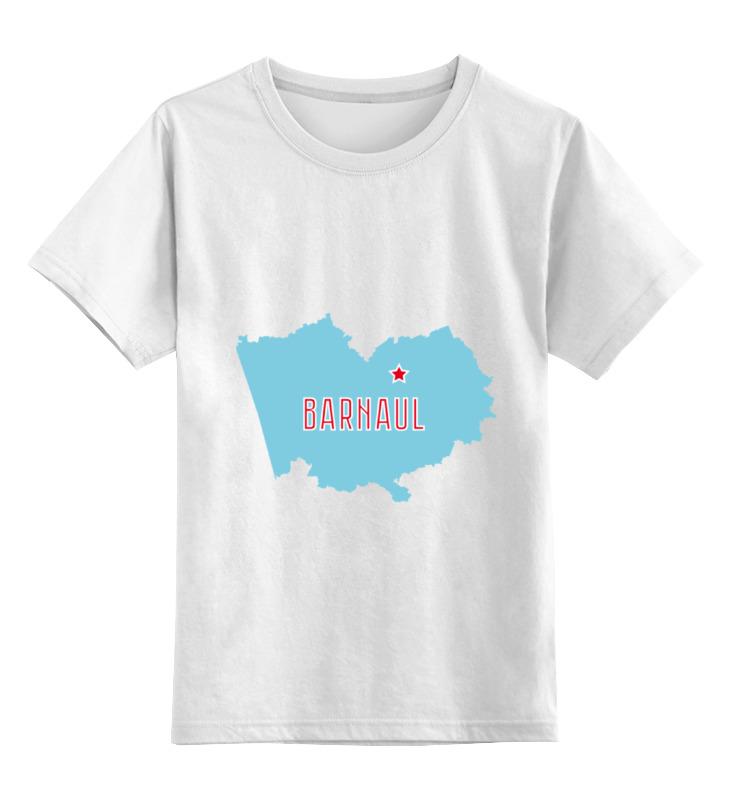 Детская футболка классическая унисекс Printio Алтайский край. барнаул