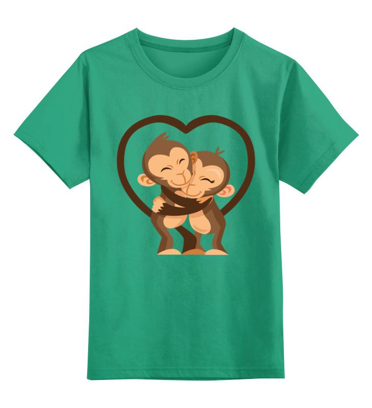 Детская футболка классическая унисекс Printio Обезьянки цена и фото