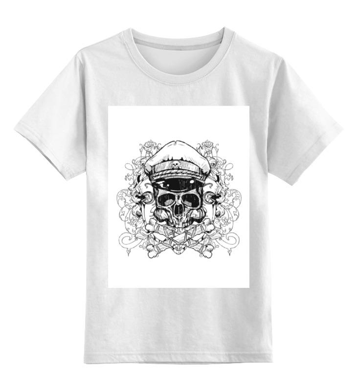 Детская футболка классическая унисекс Printio Капитан череп майка классическая printio капитан череп