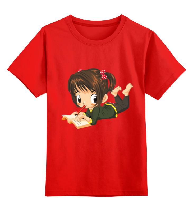 Детская футболка классическая унисекс Printio Девочка smoby детская горка king size цвет красный