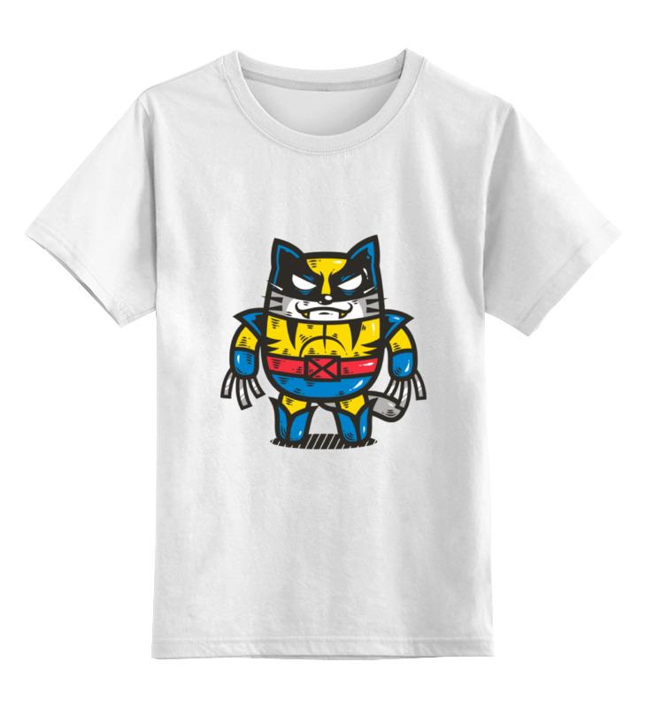 Детская футболка классическая унисекс Printio Росомаха-кот