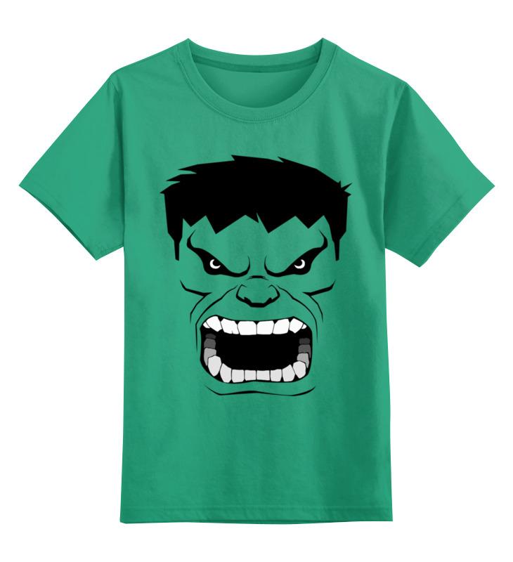Детская футболка классическая унисекс Printio Зеленый (халк) детская футболка классическая унисекс printio зеленый чай