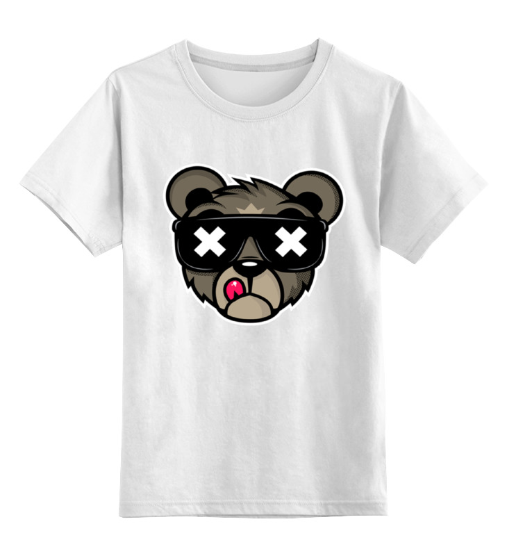 Детская футболка классическая унисекс Printio Crew five cali bear толстовка wearcraft premium унисекс printio crew five cali bear