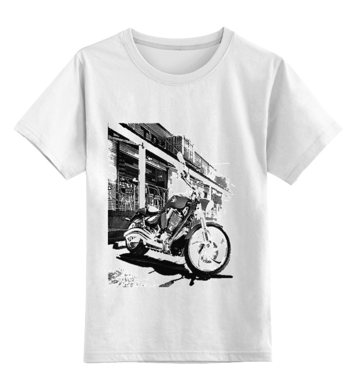 Детская футболка классическая унисекс Printio Мотоциклы мотоциклы