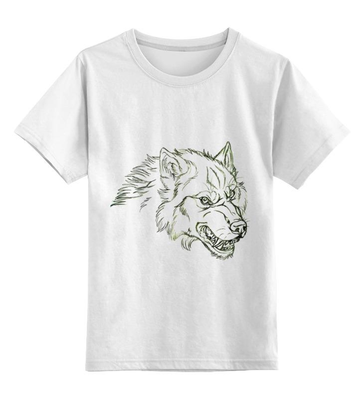 Детская футболка классическая унисекс Printio Angry wolf толстовка