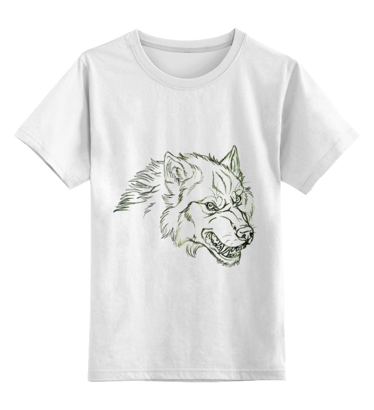 Детская футболка классическая унисекс Printio Angry wolf толстовка детская футболка классическая унисекс printio lone wolf