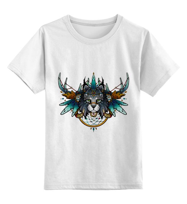 Детская футболка классическая унисекс Printio Рысь шаман лонгслив printio рысь шаман