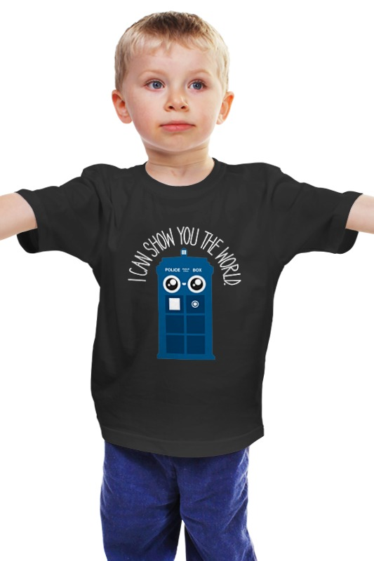 Детская футболка классическая унисекс Printio Я покажу тебе мир футболка для беременных printio я покажу тебе мир