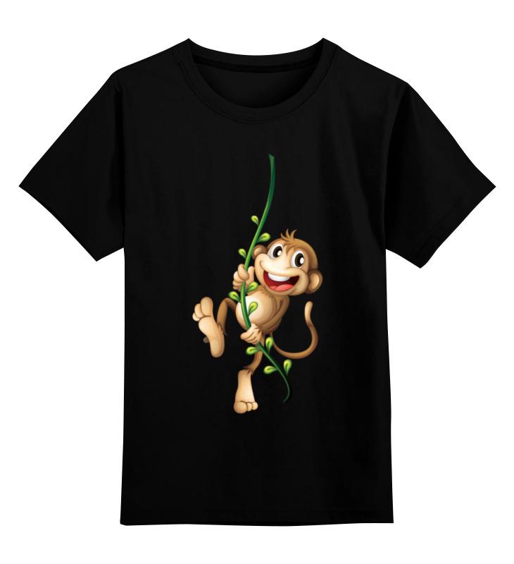 Детская футболка классическая унисекс Printio Обезьянка чи-чи-чи весело нагло по нашему футболка муж