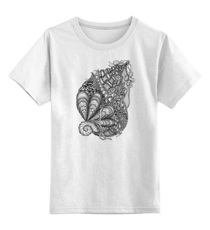 Детская футболка классическая унисекс Printio Морская абстракция блузка детская barkito морская принцесса голубая
