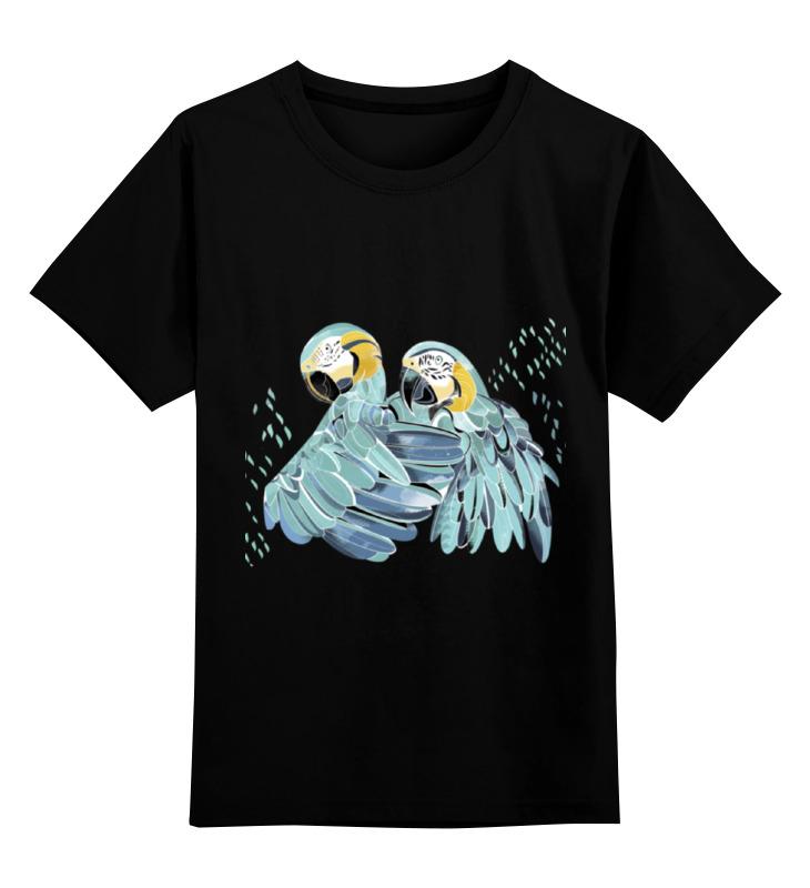 цена на Детская футболка классическая унисекс Printio Влюбленные попугайчики