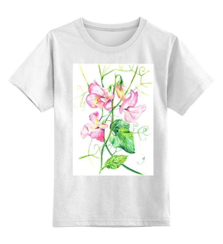 Детская футболка классическая унисекс Printio Цветы душистый горошек соль для педикюра рассвет 300 гр душистый мир