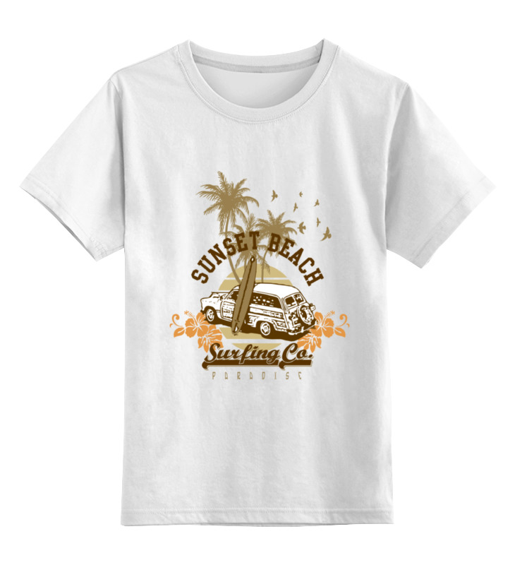 Детская футболка классическая унисекс Printio ....sunset beach....пляж футболка wearcraft premium printio sunset beach пляж