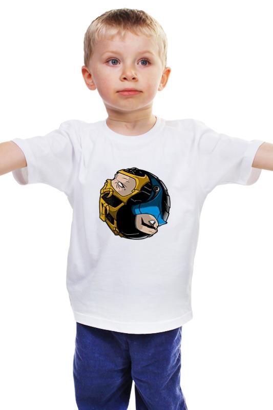 Детская футболка классическая унисекс Printio Scorpion x sub-zero (mortal kombat)