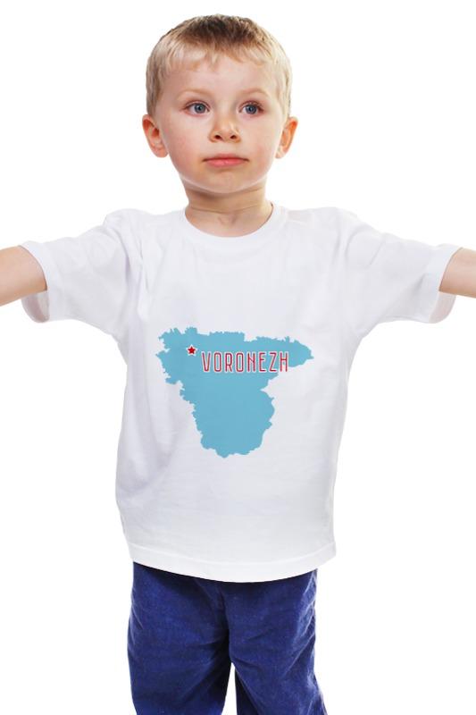 Детская футболка классическая унисекс Printio Воронежская область. воронеж ржаной солод где воронеж