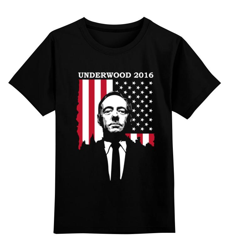 Детская футболка классическая унисекс Printio Кевин спейси (underwood 2016) футболка классическая printio cthulhu 2016