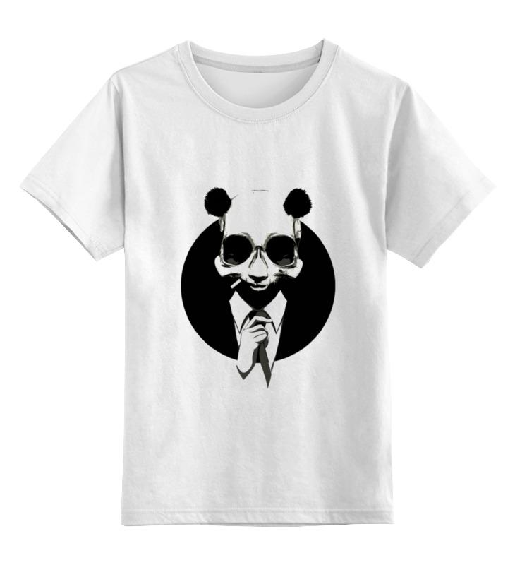 Детская футболка классическая унисекс Printio Панда в костюме детская футболка классическая унисекс printio король панда