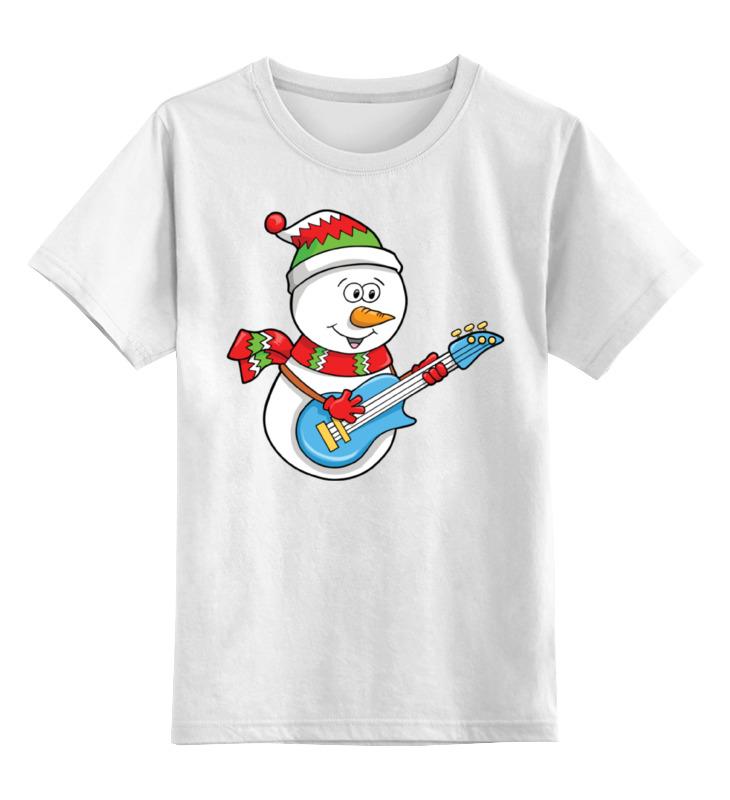 Детская футболка классическая унисекс Printio Снеговик с гитарой детская футболка классическая унисекс printio снеговик