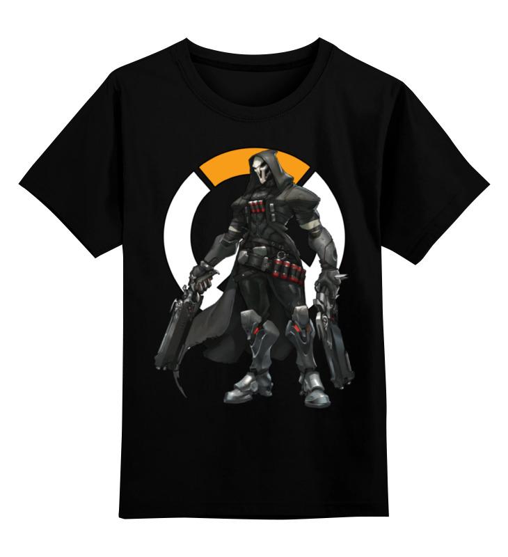Детская футболка классическая унисекс Printio Overwatch reaper / жнец овервотч reaper man