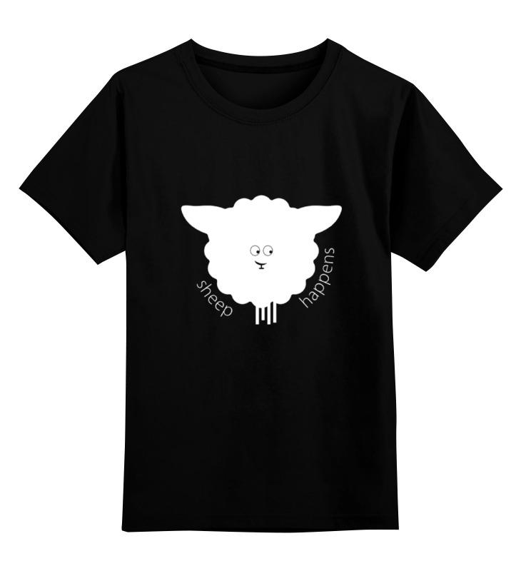 Детская футболка классическая унисекс Printio Round sheep black футболка классическая printio новогодний лось