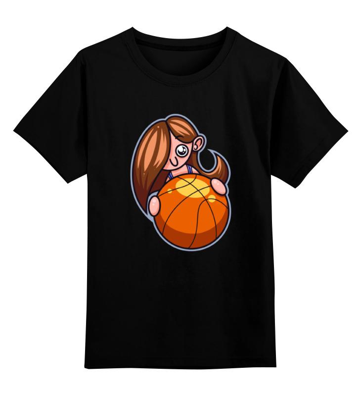 Детская футб��лка классическая унисекс Printio Баскетболистка защ лка ночной сторож только за щ лку