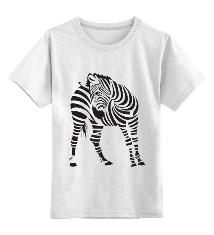 Детская футболка классическая унисекс Printio Зебра цена и фото