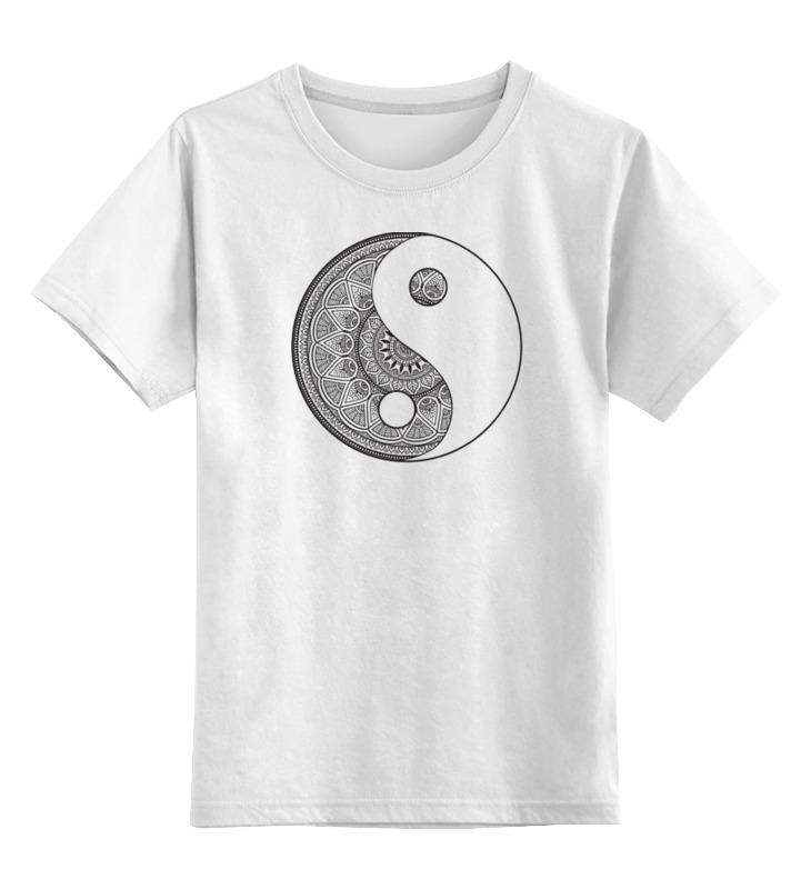 Детская футболка классическая унисекс Printio Инь и ян футболка с полной запечаткой мужская printio инь ян