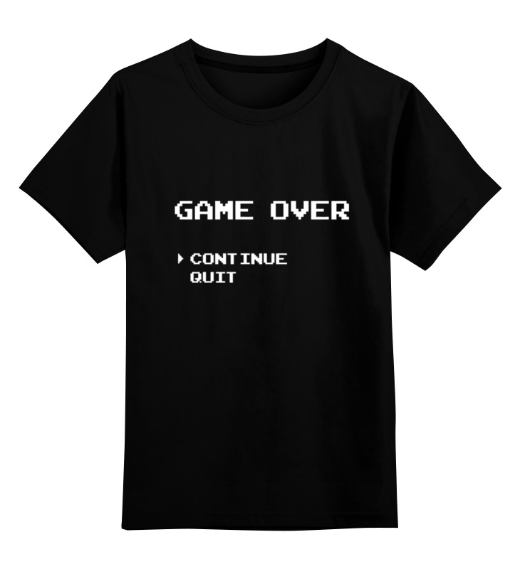 Детская футболка классическая унисекс Printio Game over (8-bit) детская футболка классическая унисекс printio конец игры game over