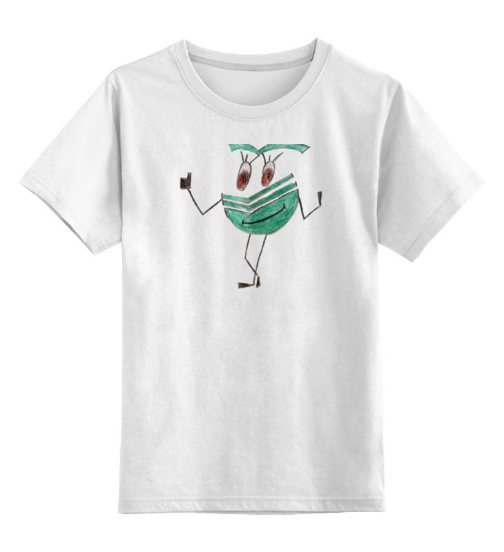 Детская футболка классическая унисекс Printio Сберсмайлик радостный лонгслив printio радостный крот