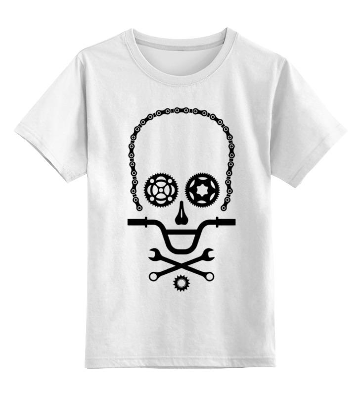 Детская футболка классическая унисекс Printio Вело череп