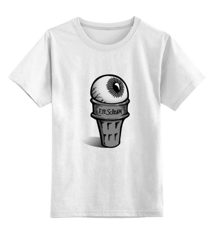 Детская футболка классическая унисекс Printio Eye scream
