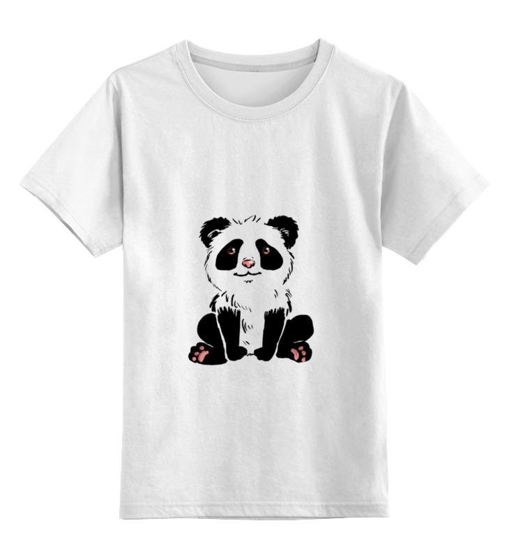 Детская футболка классическая унисекс Printio Панда))) детская футболка классическая унисекс printio король панда