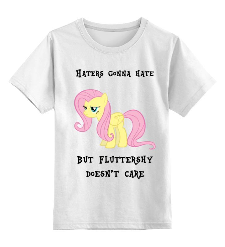 где купить Детская футболка классическая унисекс Printio haters gonna hate, fluttershy doesn't care по лучшей цене