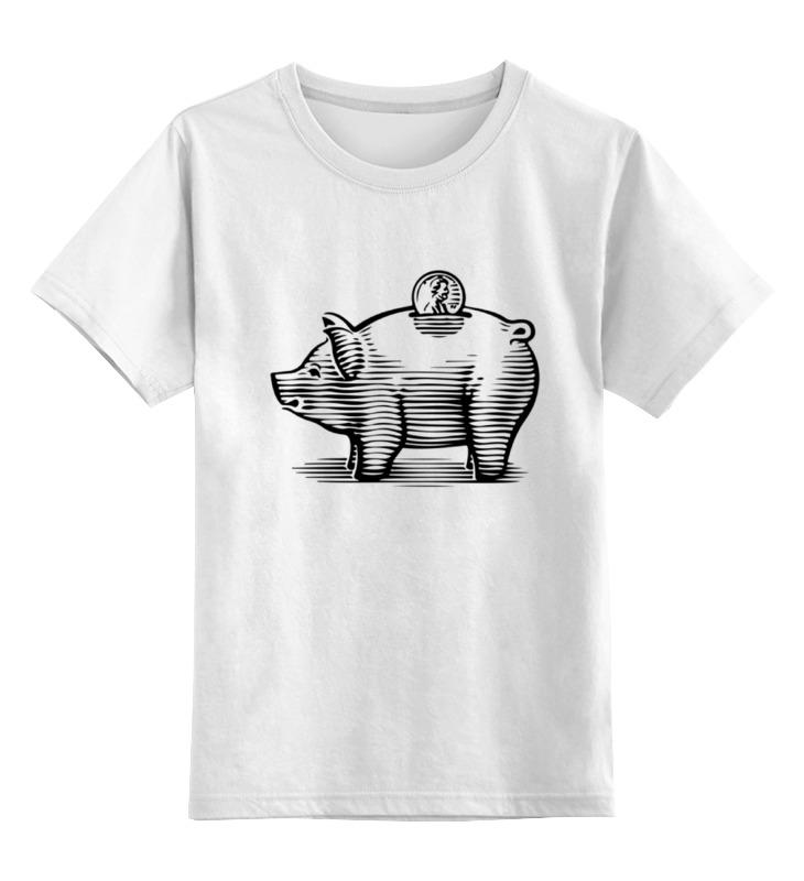 Детская футболка классическая унисекс Printio Копилка хрюшка копилка хрюшка в шляпе 15 8х12 8х17 2 черный бежевый