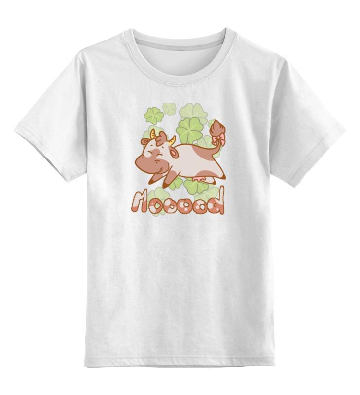 Детская футболка классическая унисекс Printio Корова детская футболка классическая унисекс printio божья коровка