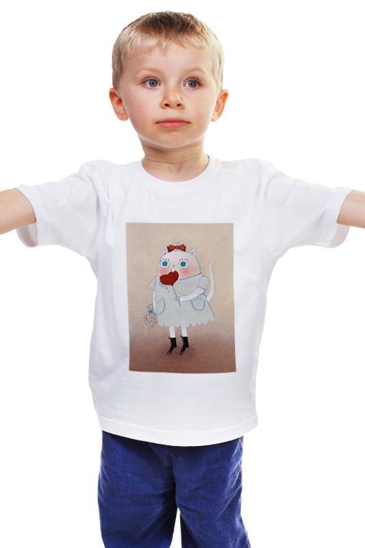 Детская футболка классическая унисекс Printio Кошка с леденцом открытка с леденцом дорожные истории 1252343