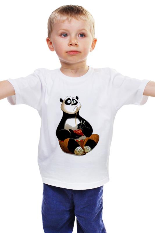 Детская футболка классическая унисекс Printio Кунг фу панда unice кунг фу панда