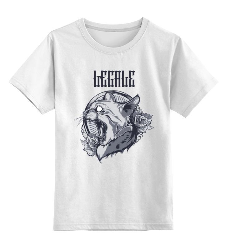 Детская футболка классическая унисекс Printio The cat