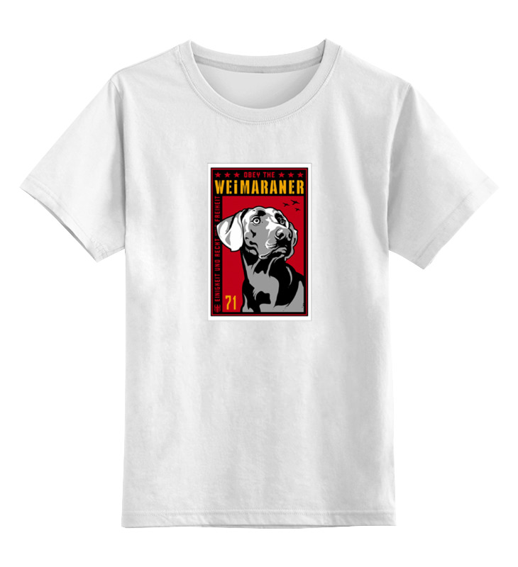 Детская футболка классическая унисекс Printio Собака: weimaraner цена и фото