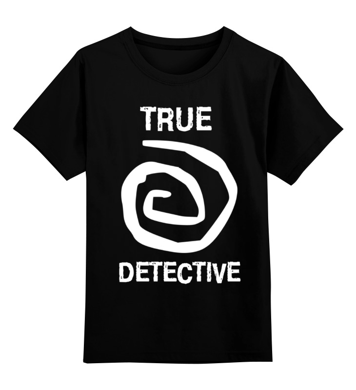 Детская футболка классическая унисекс Printio True detective detective cross