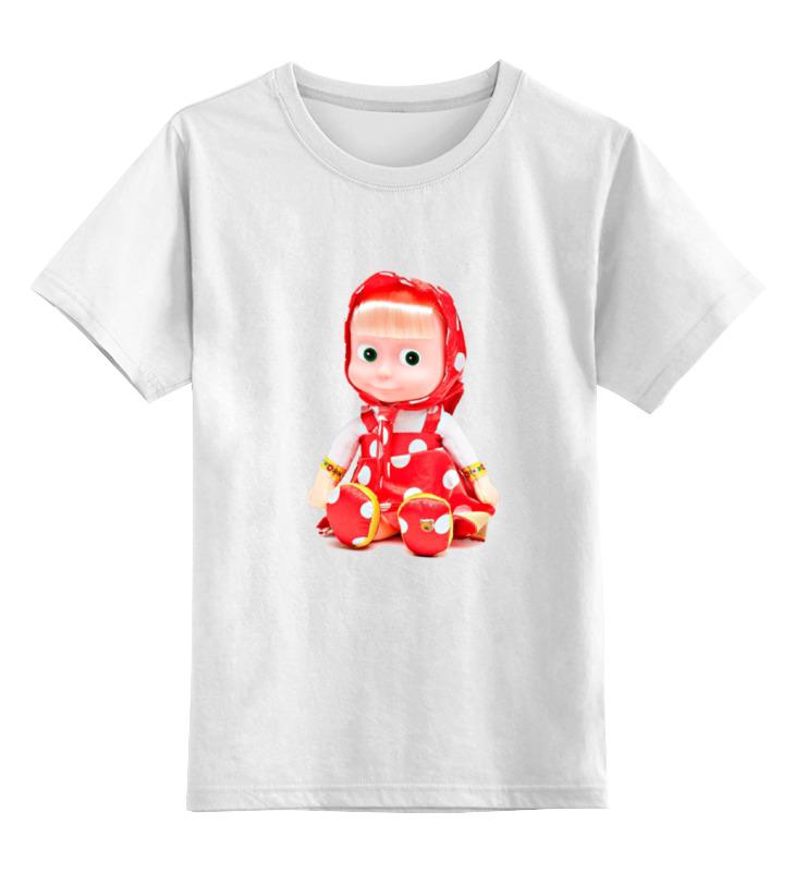 Детская футболка классическая унисекс Printio Кукла-девочка маша из мульта. смешная озорная. футболка классическая printio кукла девочка маша и миша смешные озорные