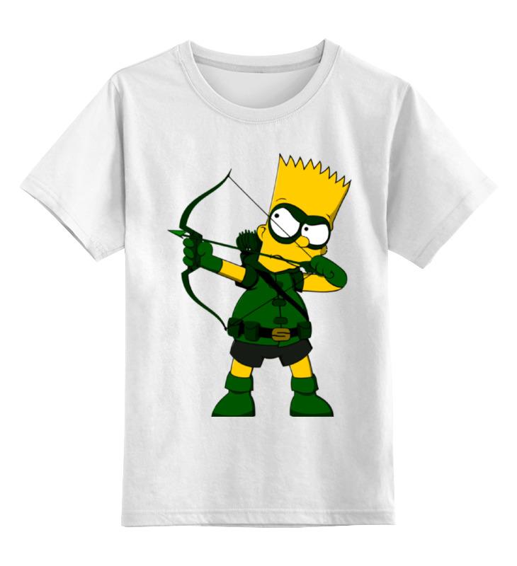 Детская футболка классическая унисекс Printio Барт симпсон