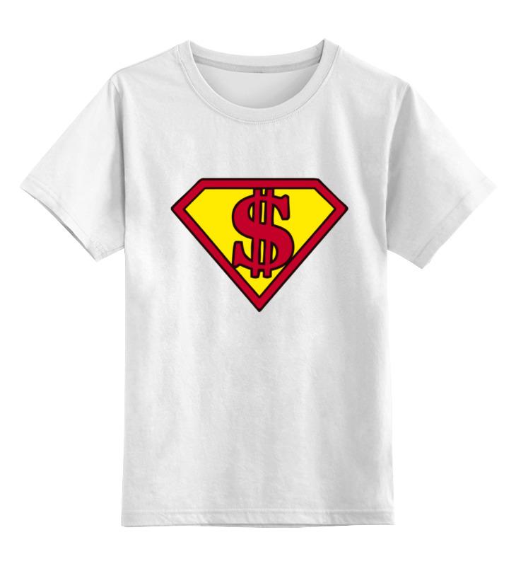 Детская футболка классическая унисекс Printio Супер доллар куплю авто 2500 доллар в бишкеке