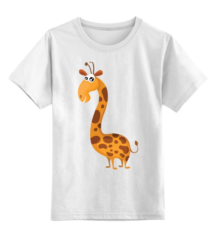 Детская футболка классическая унисекс Printio Прикольный жираф
