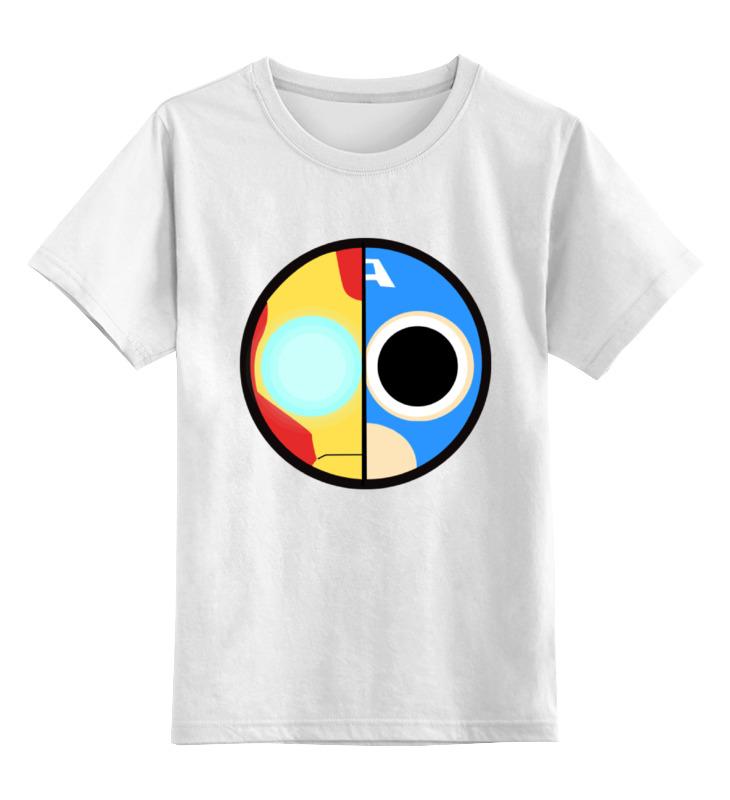 Детская футболка классическая унисекс Printio Капитан америка (железный человек) цена