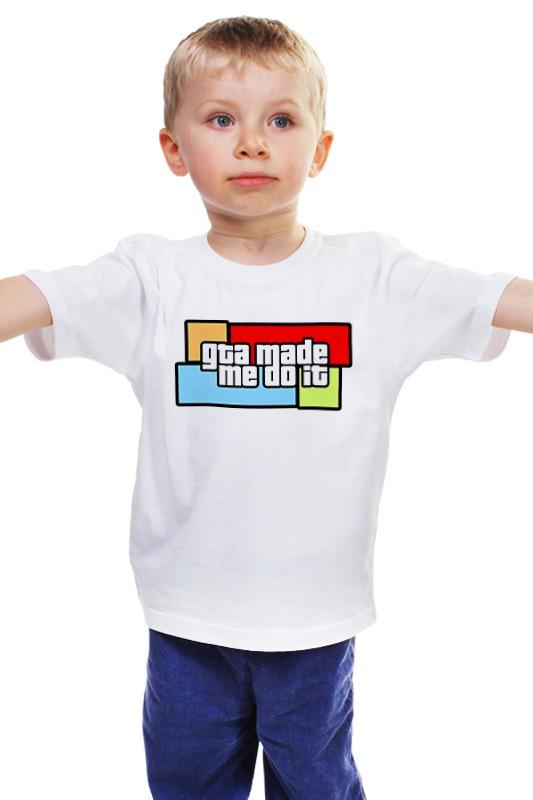 Детская футболка классическая унисекс Printio Gta made me do it цена